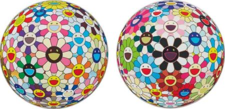Takashi Murakami-Flower Ball Cosmos (3D), Flower Ball Blood (3D) V-2008