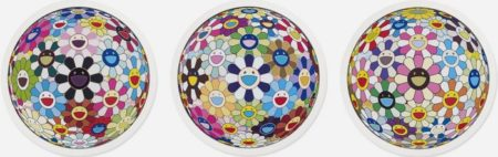 Takashi Murakami-Flower Ball Cosmos 3D, Flower Ball Kindergarten 3D, Flower Ball Blood 3D-2011