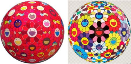 Takashi Murakami-Flower Ball Kindergarten Days, Flower Ball Red Cliff-2010