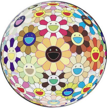 Takashi Murakami-Flower Ball (3D) Sunflower-2010