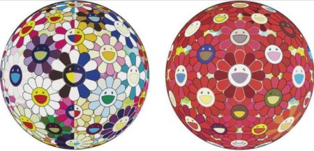 Takashi Murakami-Flower Bll (3D) Red Cliff, Flower Ball (3D) From the Realm of the Dead-2010