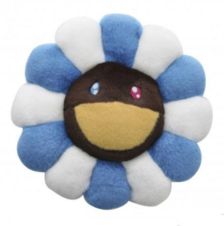 Flower Cushion Blue and Brown-