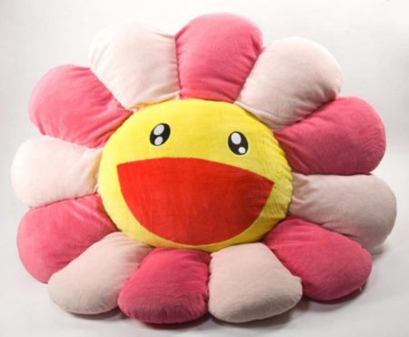 Takashi Murakami-Flower Cushion Pink (large)-