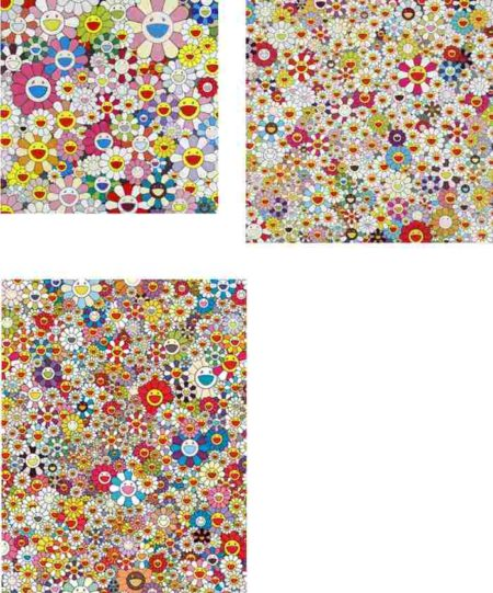 Takashi Murakami-Flower Smile, Field of Smiling Flowers, Poporoke Forest-2011