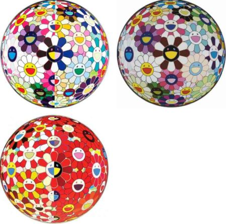 Takashi Murakami-Flowerball (3D) From the Realm of the Dead, Flowerball Brown, Flowerball Red (3D) The Magic Flute-2010