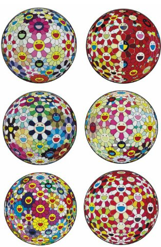 Takashi Murakami-Flowerball 3D, Flowerball Margaret (3D), Flowerball Brown, Flowerball Cosmos (3D), Flowerball Goldfish Colors (3D), Flowerball Blood (3D) V, Flowerball (3D) Kindergarten, Flowerball Red (3D) The Magic Flute, Flowerball (3D) From the Realm of the Dead, Flowerball Pink-
