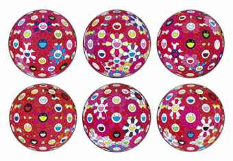 Takashi Murakami-Flowerball (3D) - Red, Pink, Blue; Flowerball (3D) - Blue, Red; Comprehending the 51st Dimension; Hey! You! Do You Feel What I Feel?; Flowerball (3D) - Tum Red!, ; Flowerball (3D) - Papyrus; Flowerball (3D) - Red Ball; Letter to Picasso; There is Nothing Eternal in this World. That is Why You are Beautiful.; Groping for the Truth-2014