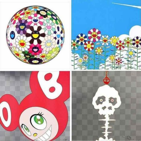 Takashi Murakami-Flowerball Brown, Flower, And then... (Red), Dokuro silver-2011