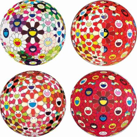 Takashi Murakami-Flowerball Brown, Flowerball Red (3D) The Magic Flute, Flowerball Goldfish Colors (3D), Flower Ball (3D) Red Cliff-2010