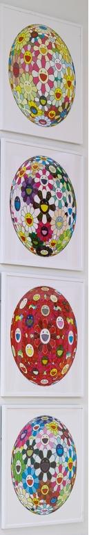 Takashi Murakami-Flowerball Margaret (3D), Flowerball Brown, Flowerball (3D) Red Cliff, Flowerball Blood (3D)-2008