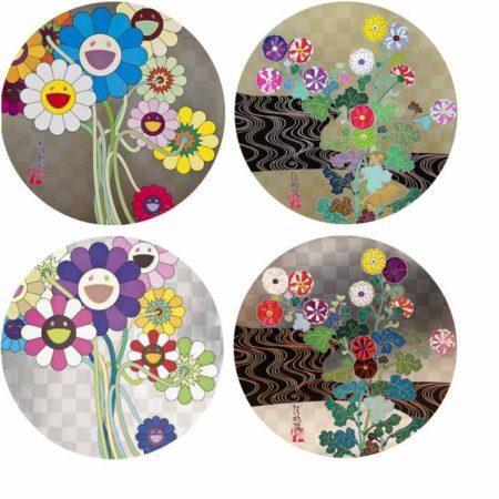Takashi Murakami-Flowers For Algernon, Kansei Korin Gold, Warhol Silver, Kansei Voice Of The Mountain Stream-2009