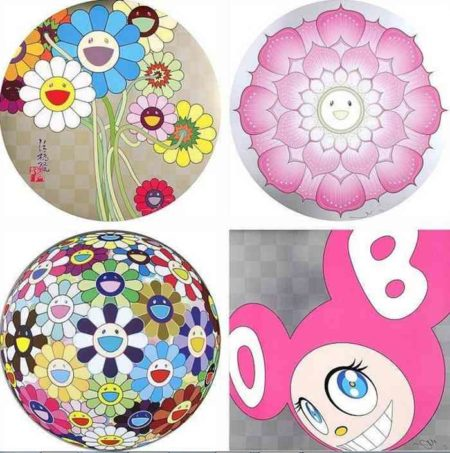 Takashi Murakami-Flowers for Algernon, Lotus Flower (Pink), Flower Ball (3D) Kindergarten, And Then (Pink)-2011