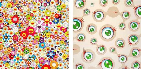 Takashi Murakami-Flowers in Heaven, Jellyfish Eyes-Cream-2010