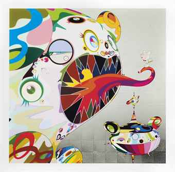 Takashi Murakami-Homage to Francis Bacon (Study of George Dyer)-2011