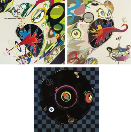 Takashi Murakami-Homage to Francis Bacon (Study of George Dyer), Homage to Francis Bacon (Study of Isabella Rawsthorne), Blackbeard-2003