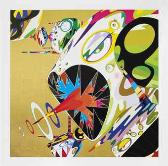 Takashi Murakami-Homage to Francis Bacon (Study of Isabel Rawsthorne)-2011
