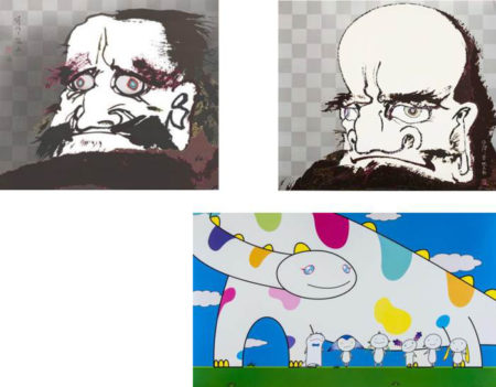 Takashi Murakami-I open wide my eyes but see no scenery. I fix my gaze upon my heart, My arms and legs rot off and though my blood rushes forth?, Yoshiko and the creatures from Planet 66-