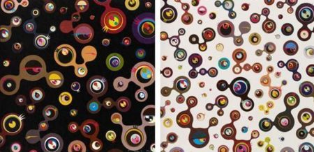 Takashi Murakami-Jellyfish Eyes White 5, Jellyfish Eyes Black 4-2004