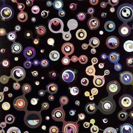 Takashi Murakami-Jellyfish Eyes-Black 5-2004