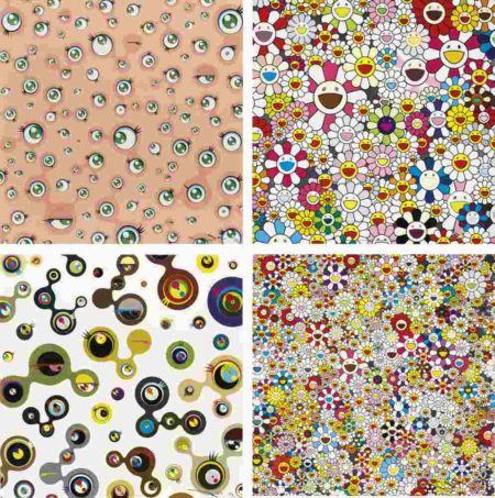Takashi Murakami-Jellyfish Eyes; Jellyfish Eyes - White 4; Flowers Blooming In This World And The Land Of Nirvana; Flowers Blooming In This World And The Land Of Nirvana-2013