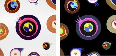 Takashi Murakami-Jellyfish Eyes - White 1; Jellyfish Eyes - Black 1-2011
