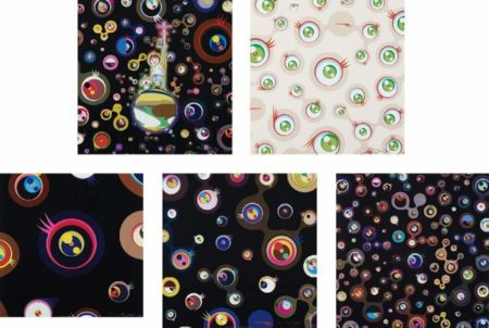 Takashi Murakami-Jellyfsh Eyes, Jellyfsh Eyes Cream, Jellyfsh Eyes - Black 1, Jellyfsh Eyes - Black 3, Jellyfsh Eyes - Black 5-2013
