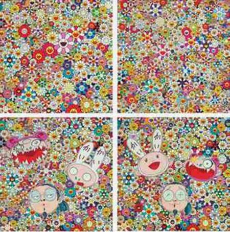 Takashi Murakami-KaiKai KiKi and Me-The Shocking Truth Revealed, Kaikai KiKi and Me-For Better or Worse, Open Your Hands Wide Embrace Happiness, Flowers in Heaven-2010