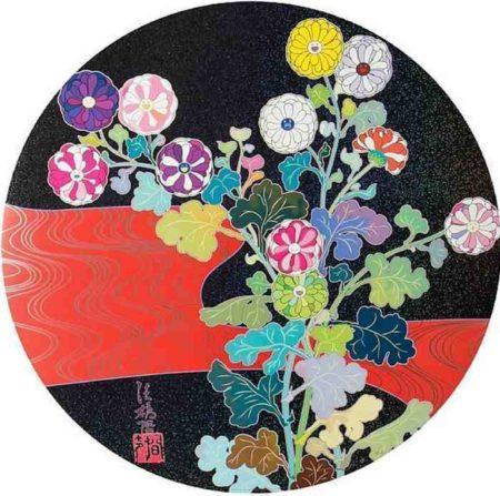 Takashi Murakami-Kansei Korin Red Stream-2009
