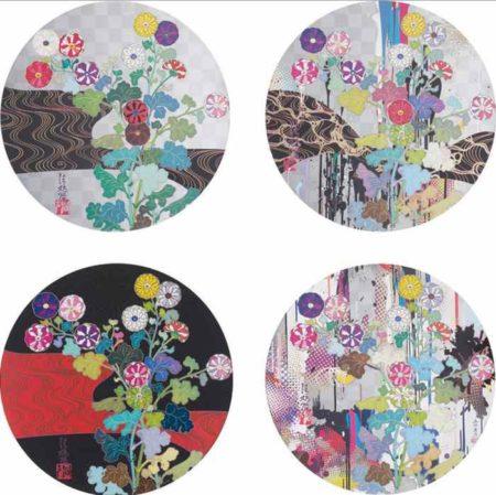 Takashi Murakami-Kansei (trade name of Rinpa-school Edo Painter Ogata Korin), Kansei-Like The Rivers Flow, Kansei Korin Red Stream, Kansai Abstraction-2010