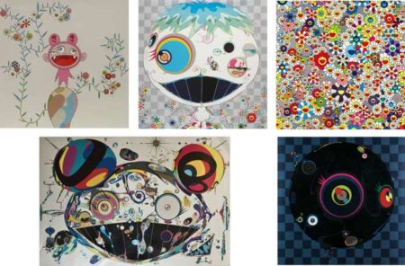 Takashi Murakami-Kiki with Moss, Jelly Fish, Flower, Tan Tan Bo, Blackbeard, Kaikaikiki-2003