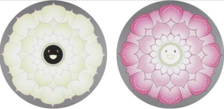 Takashi Murakami-Lotus Flower (White), Lotus Flower (Pink)-2010