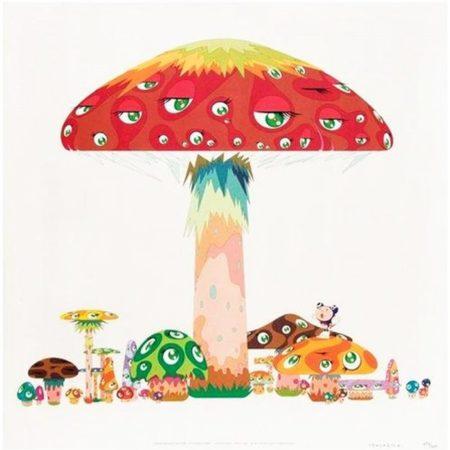 Takashi Murakami-Master Mushroom With DOB in the Strange Forest-2001