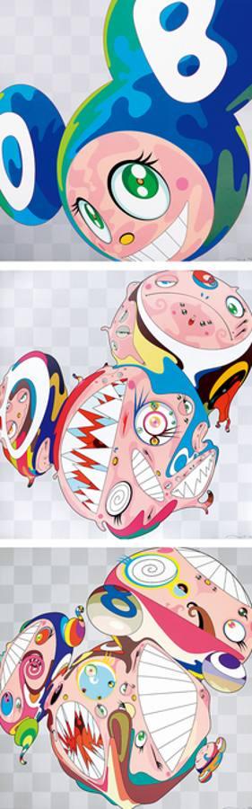 Takashi Murakami-Melting DOB (A), Melting DOB (D), Melting DOB (E)-2008