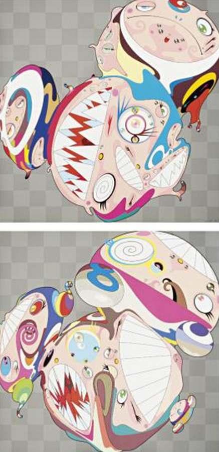 Takashi Murakami-Melting DOB D, Melting DOB E-2001