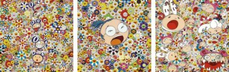 Takashi Murakami-New Day-Lots Lots of Kaikai and Kiki, New Day-Self Portrait, New Day-Dob Totem Pole-2011