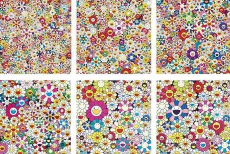 Takashi Murakami-Open Your Hands Wide, Field Of Smiling Flowers, If I Could Reach That Field Of Flowers, Maiden In The Yellow Hat, Flowers from Ponkotan, Such Cute Flowers-2010