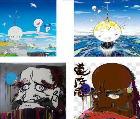 Takashi Murakami-Planet 66, Mamu Came From the Sky, The road to illumination stretches too far ahead..., Initiate the speed of cerebral synapse at free will-2008