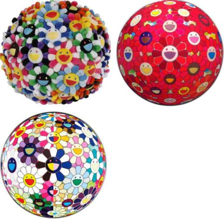 Takashi Murakami-Plush Flowerball, Flowerball (3D) Red Cliff, Flower ball 3D From the Realm of the Dead-2008