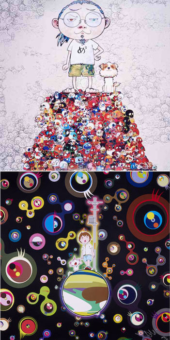 Takashi Murakami-Pom & Me: On the Red Mound of the Dead; Jellyfish Eyes-2013