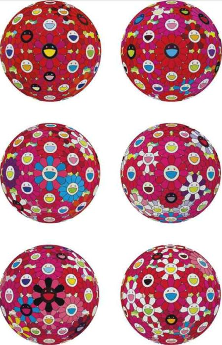 Takashi Murakami-Red Ball (And 5 Other Works)-2014