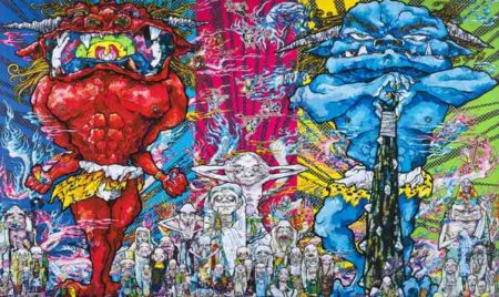 Red Demon and Blue Demon with 48 Arhats-2013
