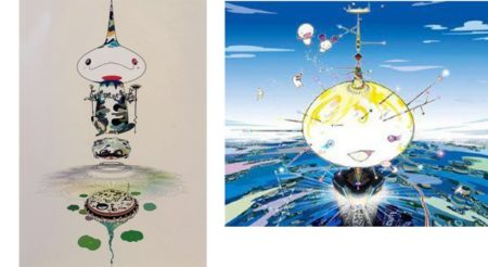 Takashi Murakami-Reversed Double Helix, Mamu Came From the Sky-2005
