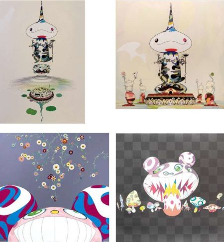 Takashi Murakami-Reversed Double Helix Mega Power, Reversed Double Helix, DOB Flower, Here Comes Media-2005