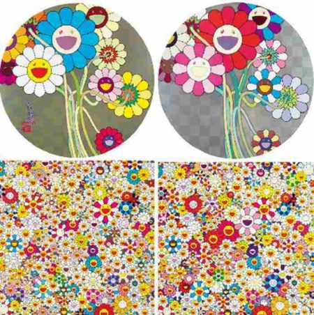 Takashi Murakami-Warhol Silver, Flowers for Algernon, Smile Garden, Paradise Garden-2010