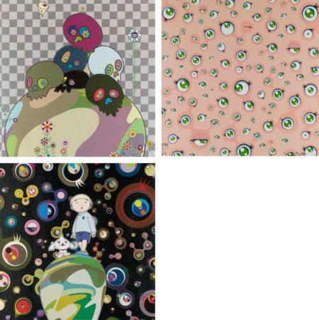 Takashi Murakami-Skulls Rock, Jellyfish Eyes, Max and Shimon in the Strange Forest-2004