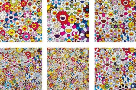 Takashi Murakami-Such Cute Flowers, Flowers Blossoming in This World and the Land of Nirvana (x 5)-2013