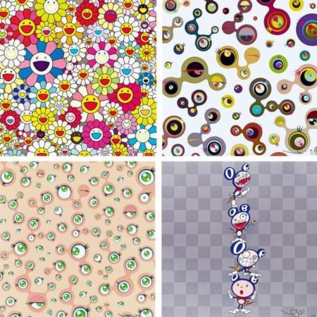 Takashi Murakami-Such Cute Flowers, Jellyfish Eyes White 4, Jellyfish Eyes, DOB Totem Pole-2011