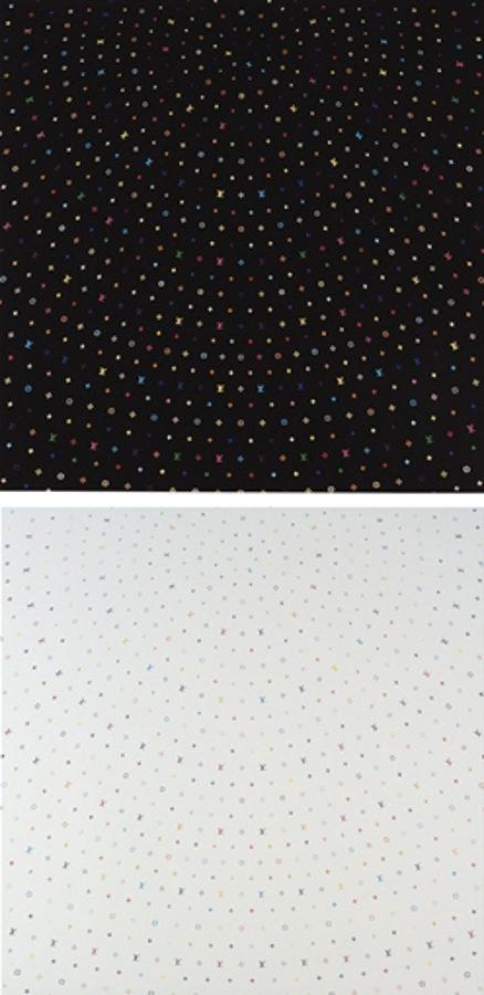 Takashi Murakami-Superflat Sphere (White & Black)-2003