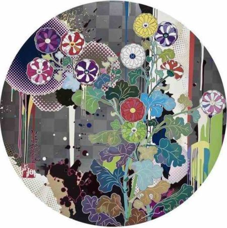 Takashi Murakami-With reverence, I lay myself before you-Korin Chrysanthemum-2009