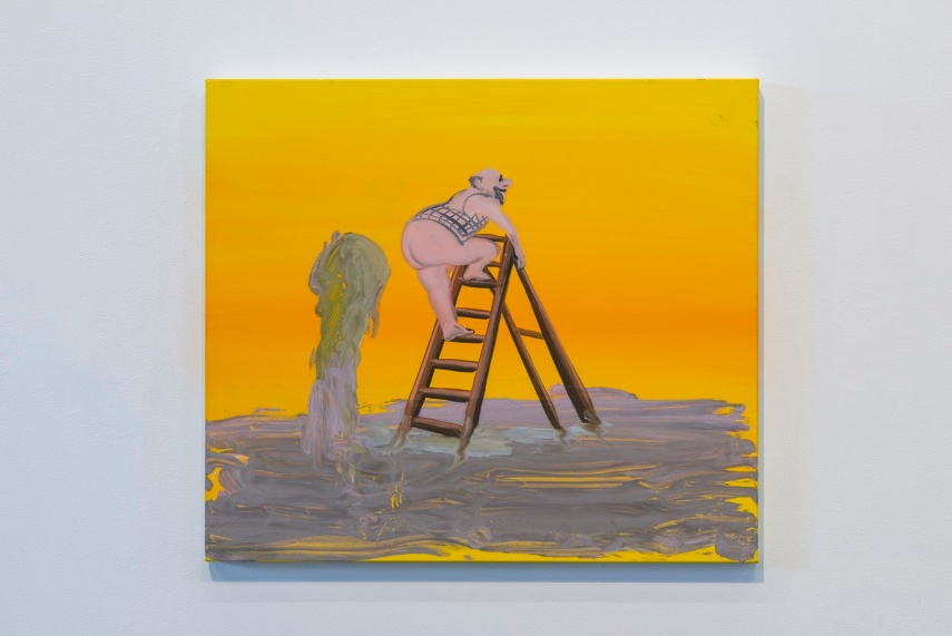 Tala Madani's biennial oil work use linen